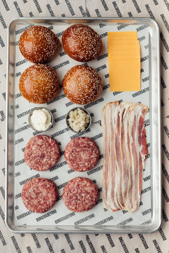 burger and beyond bacon butter burger kit