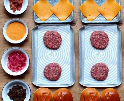 Patty and bun burger diy kit