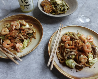 Box B: King prawn & Shiso Yaki-udon Feast Box | Makes Miso Hungry