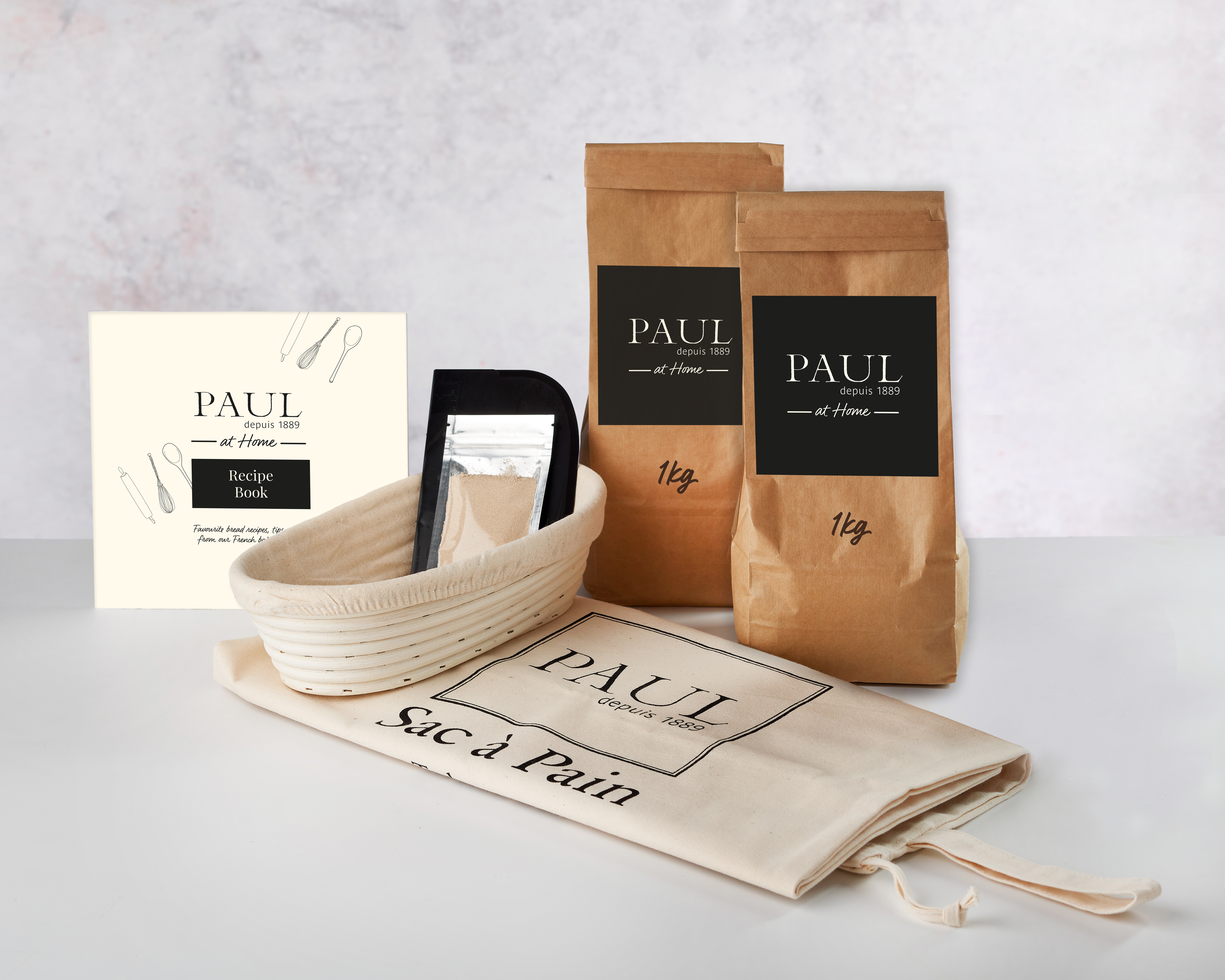 PAUL Home Bread Maker Kit with 2kg Flour - 2 types