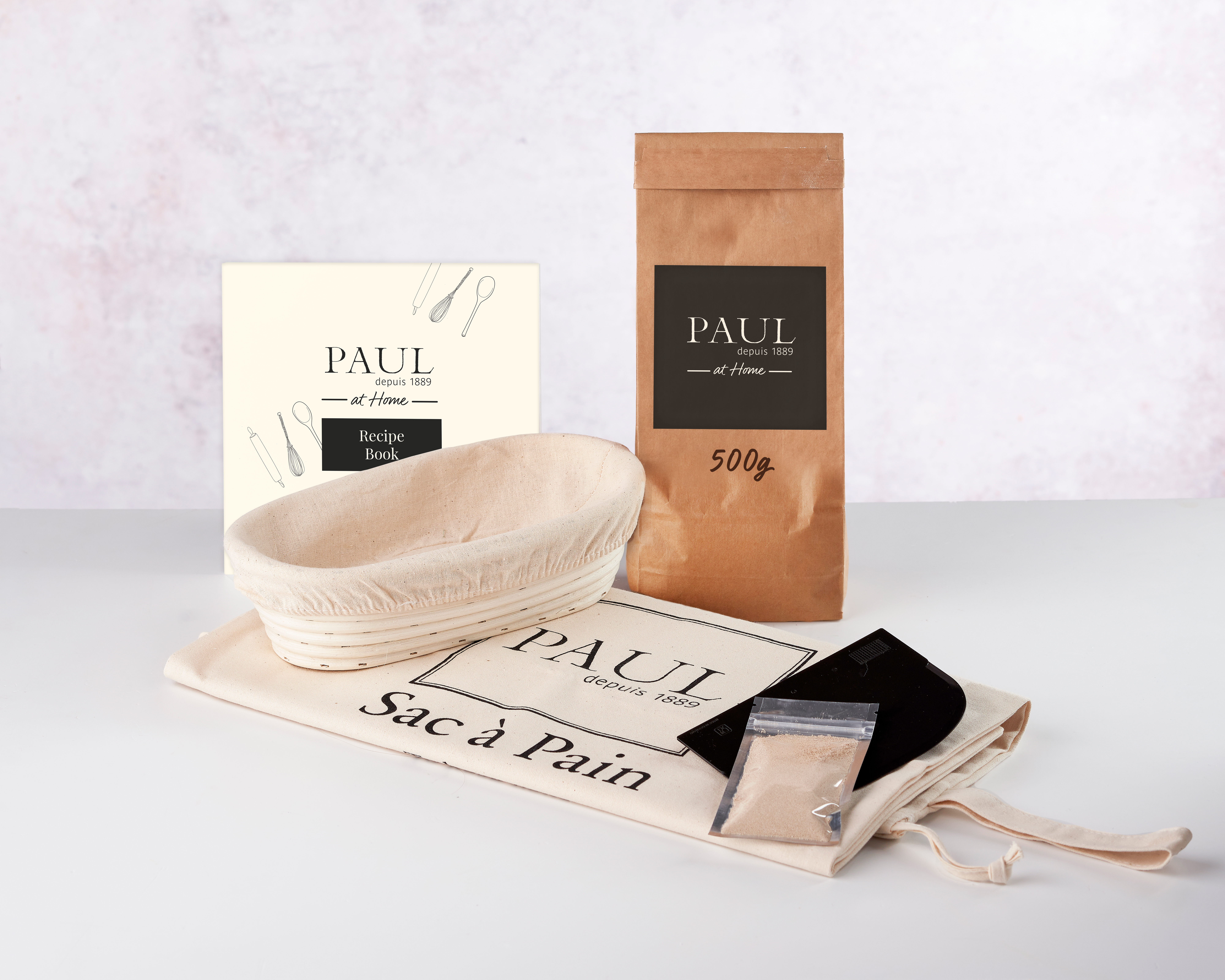 PAUL Home Bread Maker Kit with 500g White Bread Flour