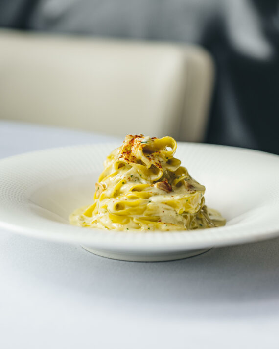 Four Cheese Sauce, Hazelnuts, Parmesan Cheese & Fresh Tagliatelle For 2