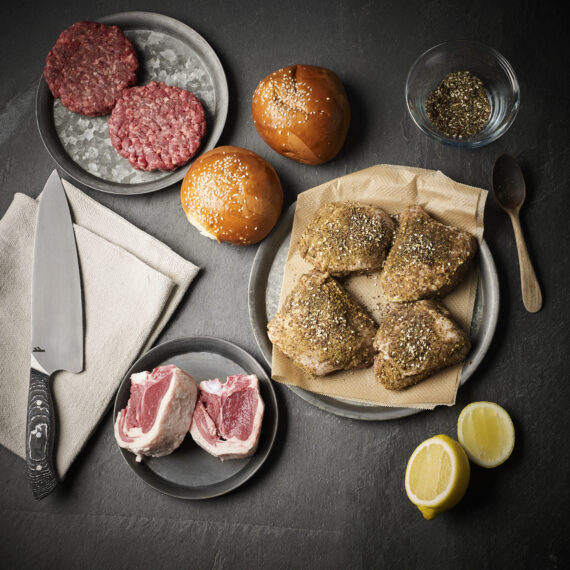 Ethical Butcher BBQ kit for 2 by Plateaway